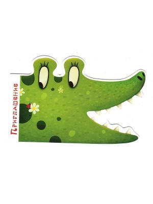Комплект приглашений Крокодил Даринчи. Цвет: зеленый