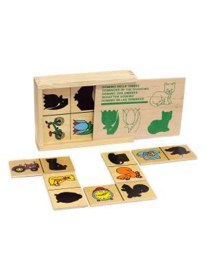 Настольная игра Домино Тени ЛЭМ. Цвет: черный, желтый, красный