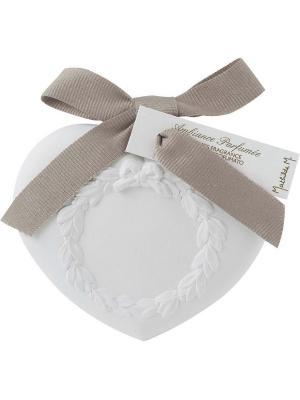 Ароматическая гипсовая подвеска Сердце, аромат Маркиза Mathilde M. Цвет: белый, черный