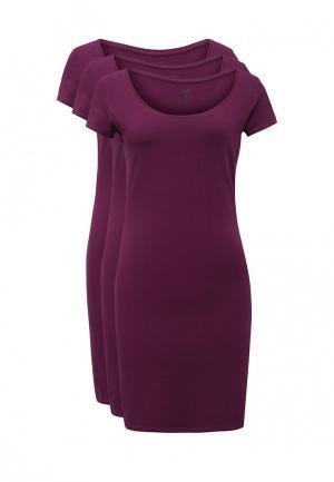 Комплект платьев 3 шт. oodji. Цвет: фиолетовый