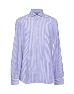 Pубашка BARBA Napoli. Цвет: фиолетовый