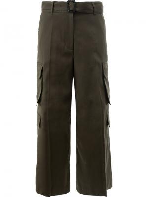 Широкие брюки Juun.J. Цвет: зелёный