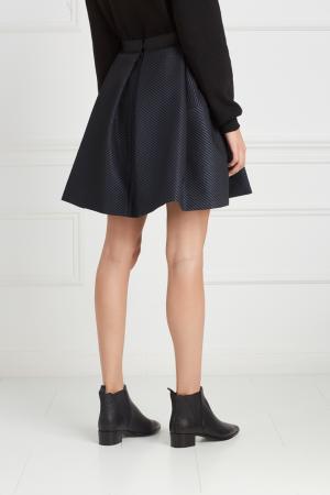 Однотонная юбка Viva Vox. Цвет: синий