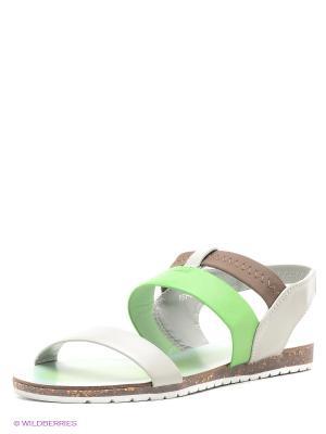 Сандалии Yaro. Цвет: серый, зеленый, коричневый