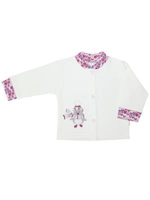 Кофточка Веселый малыш. Цвет: молочный, коралловый, розовый