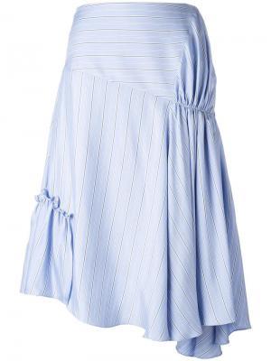 Асимметричная юбка со сборками J.W.Anderson. Цвет: синий