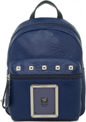 Синий рюкзак с металлическим декором Piero Guidi. Цвет: синий