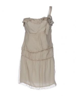Короткое платье AMBRE BABZOE. Цвет: бежевый