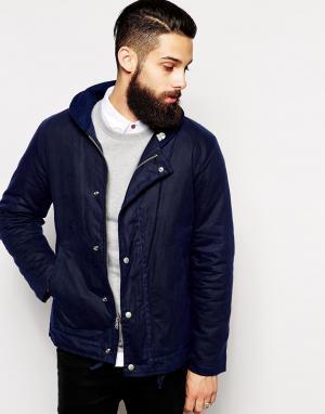 Fidelity Вощеная хлопковая куртка. Цвет: синий