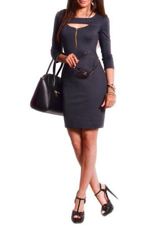 Платье FRANCESCA LUCINI. Цвет: графитовый