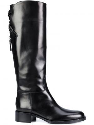 Сапоги на шнуровке Sartore. Цвет: чёрный