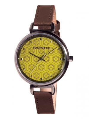 Часы Tokyobay Mitsu Mustard. Цвет: коричневый