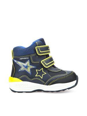Ботинки GEOX. Цвет: синий, светло-желтый