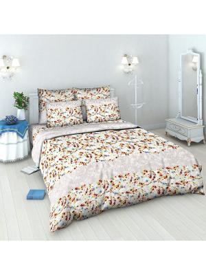 Комплект постельного белья из бязи 1,5 спальный Василиса. Цвет: розовый