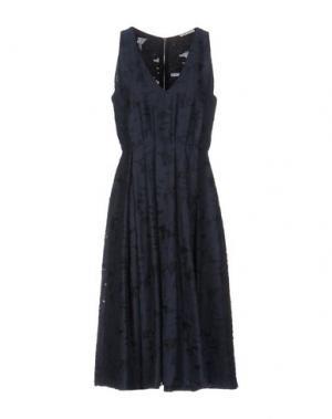 Платье до колена DEVOTION. Цвет: темно-синий