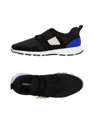 Низкие кеды и кроссовки DSQUARED2. Цвет: черный