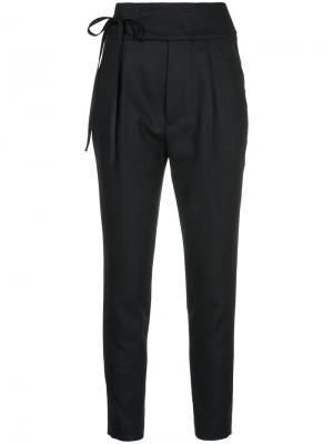 Укороченные брюки с поясом En Route. Цвет: синий