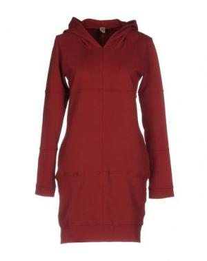 Короткое платье JIJIL. Цвет: красно-коричневый