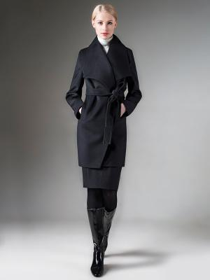 Пальто Pompa. Цвет: черный
