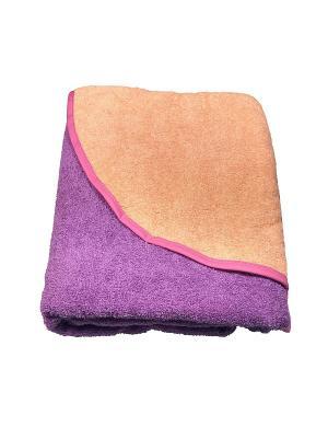 Полотенце-уголок Baby Swimmer. Цвет: фиолетовый