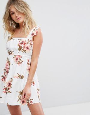 Flynn Skye Платье мини с цветочным принтом Maria. Цвет: мульти