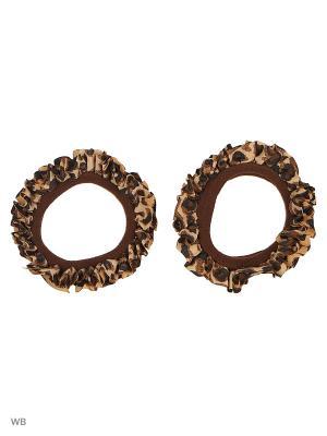 Резинки Bizon. Цвет: коричневый