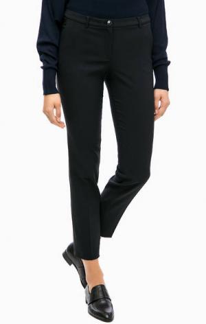 Черные зауженные классические брюки MORE &. Цвет: черный