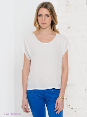 Блузка PEPE JEANS LONDON. Цвет: белый