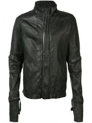 Куртка с декоративными молниями Barbara I Gongini. Цвет: чёрный
