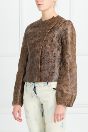 Кожаный жакет Kaufmanfranco. Цвет: коричневый