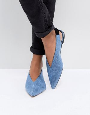 Gestuz Джинсовые туфли на плоской подошве. Цвет: синий