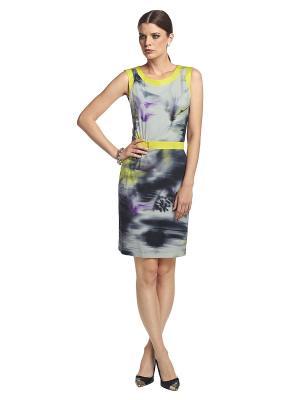 Платье APART. Цвет: серый, желтый