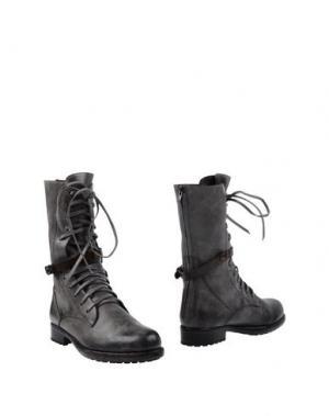 Полусапоги и высокие ботинки HENRY BEGUELIN. Цвет: свинцово-серый