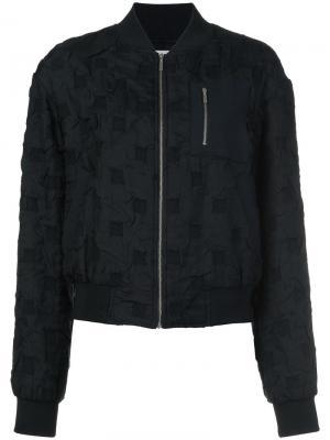Фактурная куртка-бомбер Grey Jason Wu. Цвет: чёрный