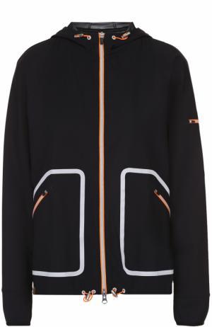Спортивная куртка на молнии с контрастной отделкой Monreal London. Цвет: черный