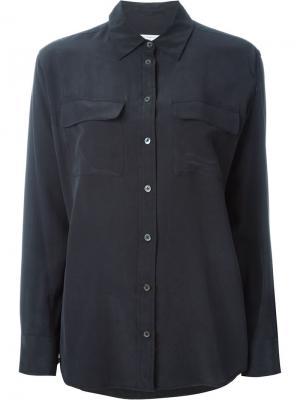 Рубашка с карманом Equipment. Цвет: чёрный