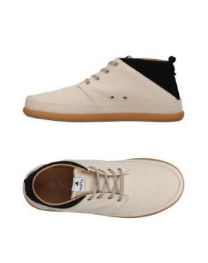 Высокие кеды и кроссовки VOLTA. Цвет: песочный