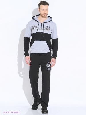 Спортивный костюм FORLIFE. Цвет: черный, серый