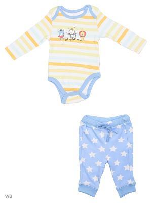 Комплект: боди и брюки Modis. Цвет: голубой, белый, желтый