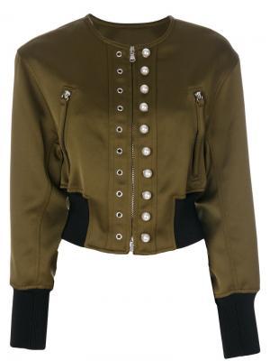 Декорированная укороченная куртка 3.1 Phillip Lim. Цвет: зелёный
