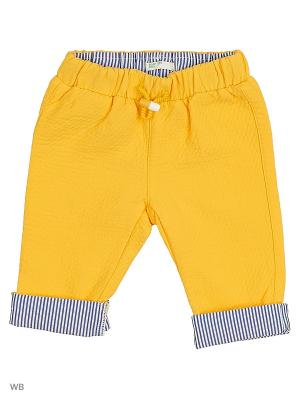 Брюки United Colors of Benetton. Цвет: желтый, серо-коричневый