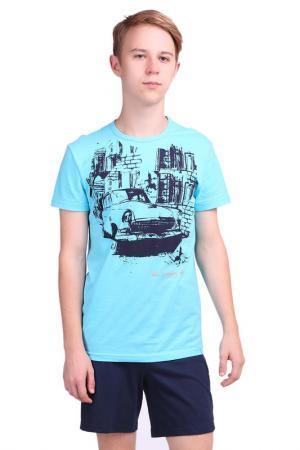 Комплект: футболки, шорты СВIТАНАК. Цвет: бирюзовый