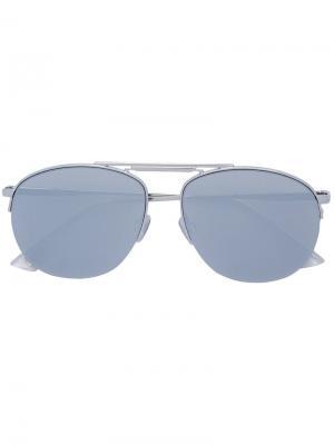 Солнцезащитные очки-авиаторы Le Specs. Цвет: металлический