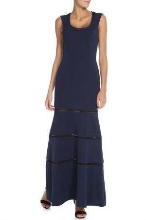 Платье Groupe JS. Цвет: синий