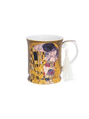 Кружка Поцелуй Elan Gallery. Цвет: золотистый, коричневый, черный