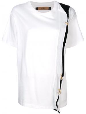 Ring panel T-shirt Coliac. Цвет: белый