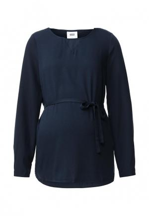Блуза Mamalicious. Цвет: синий