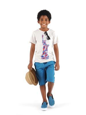 Футболка Appaman. Цвет: светло-бежевый, синий