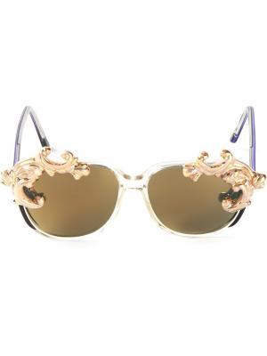 Солнцезащитные очки Desire Moo Piyasombatkul. Цвет: зелёный