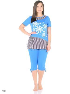 Комплект домашней одежды HomeLike. Цвет: голубой